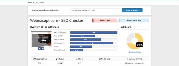 seobility free seo tools