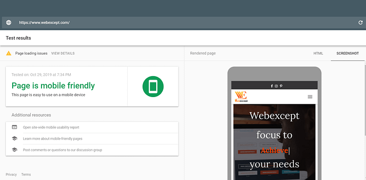 google mobile friendly test free seo tools
