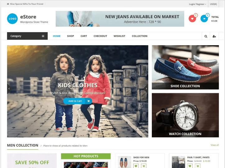 eCommerce Store – WordPress theme |